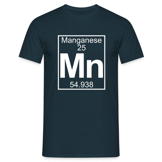 Periodic Table Words Manganese Mn Element 25 Full 1 Col