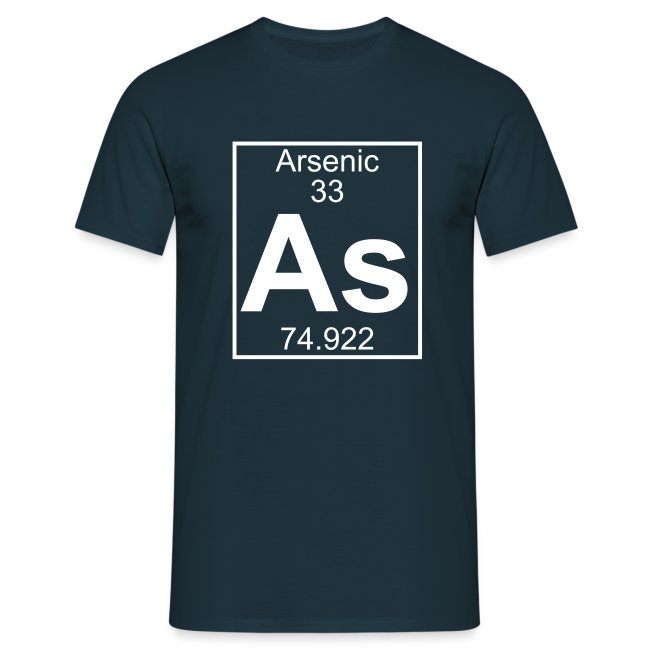 Periodic Table Words Arsenic As Element 33 Full 1 Col Shirt