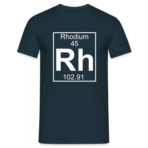 Rhodium (Rh) (element 45) - Full 1 col Shirt - Men's T-Shirt