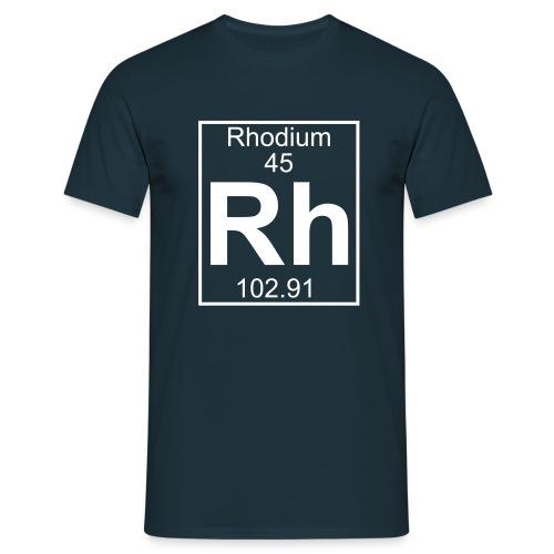 Rhodium (Rh) (element 45) - Full 1 col Shirt - Men's T-Shirt