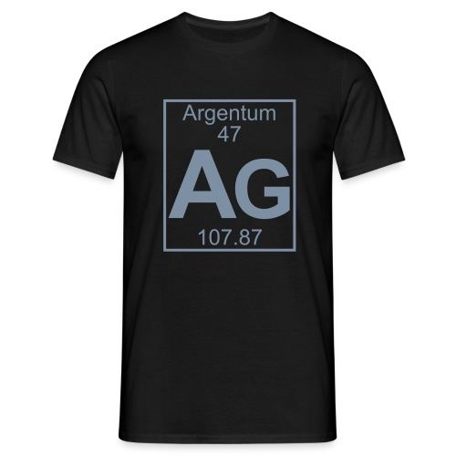 Argentum (Ag) (element 47) - Full 1 col Shirt - Men's T-Shirt