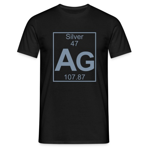 Silver (Ag) (element 47) - Full 1 col Shirt - Men's T-Shirt