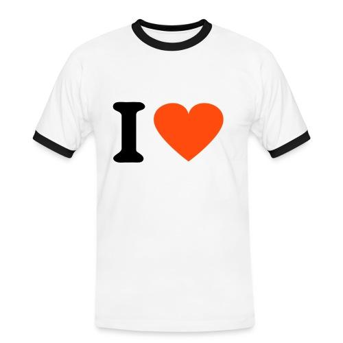 T-Shirt - I love - T-shirt contrasté Homme