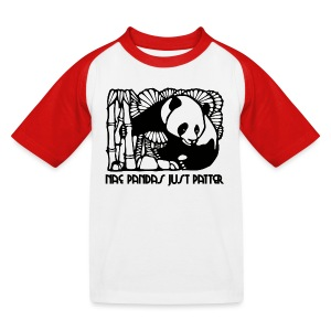 Nae Pandas Just Patter - Kids' Baseball T-Shirt
