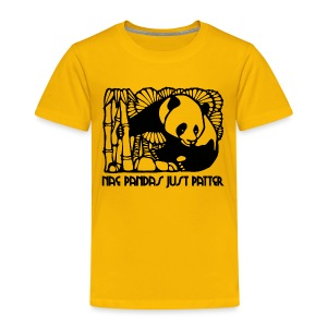 Nae Pandas Just Patter - Kids' Premium T-Shirt