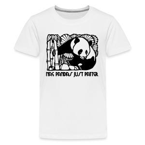 Nae Pandas Just Patter - Teenage Premium T-Shirt