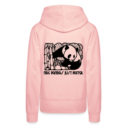 Nae Pandas Just Patter - Women's Premium Hoodie