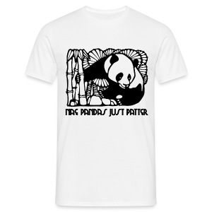Nae Pandas Just Patter - Men's T-Shirt