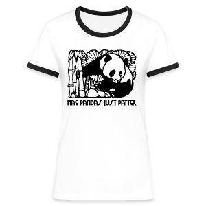 Nae Pandas Just Patter - Women's Ringer T-Shirt