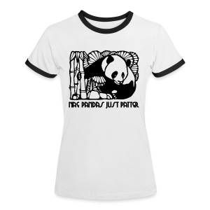 Nae Pandas Just Patter - Women's Ringer T-Shirt