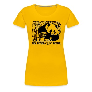 Nae Pandas Just Patter - Women's Premium T-Shirt