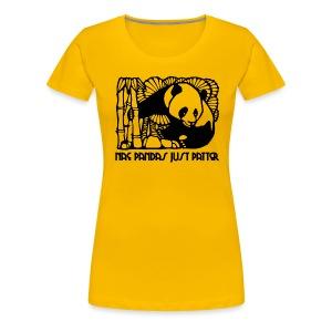 Nae Pandas Just Patter - Women's Premium T-Shirt
