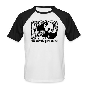 Nae Pandas Just Patter - Men's Baseball T-Shirt