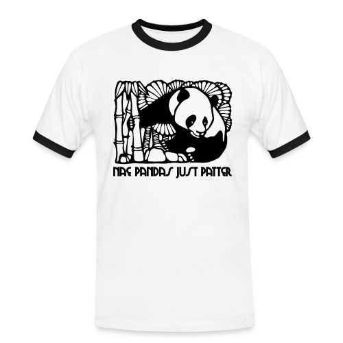 Nae Pandas Just Patter - Men's Ringer Shirt