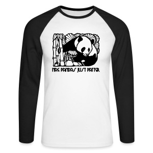 Nae Pandas Just Patter - Men's Long Sleeve Baseball T-Shirt