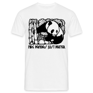 T-Shirts ~ Men's T-Shirt ~ Nae Pandas Just Patter