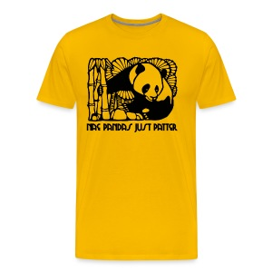 Nae Pandas Just Patter - Men's Premium T-Shirt