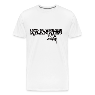 T-Shirts ~ Men's Premium T-Shirt ~ I Swung With The Krankies