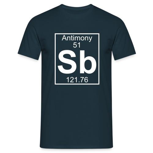 Antimony (Sb) (element 51) - Full 1 col Shirt - Men's T-Shirt