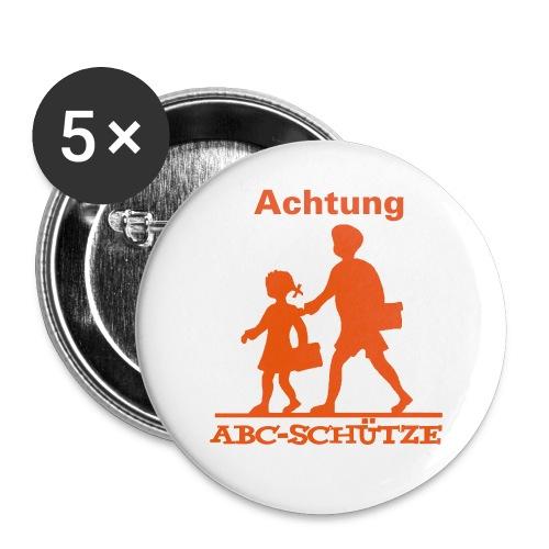Einschulung, Schulanfang, Schulbeginn, Schlueinführung - Buttons mittel 32 mm