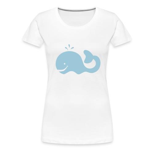 T-shirt met walvis (vrouwen) - Vrouwen Premium T-shirt