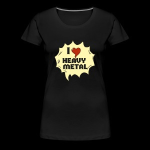 I love Heavy Metal - Frauen Premium T-Shirt