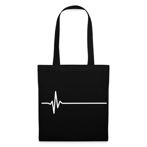 heart moniter white print tote bag - Tote Bag