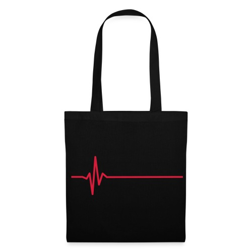 heart monitor red - Tote Bag