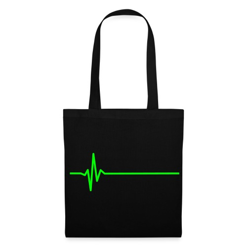 heart monitor neon green - Tote Bag
