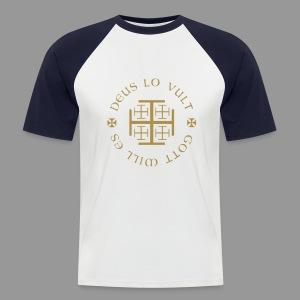 Deus lo vult - Gold - Männer Baseball-T-Shirt