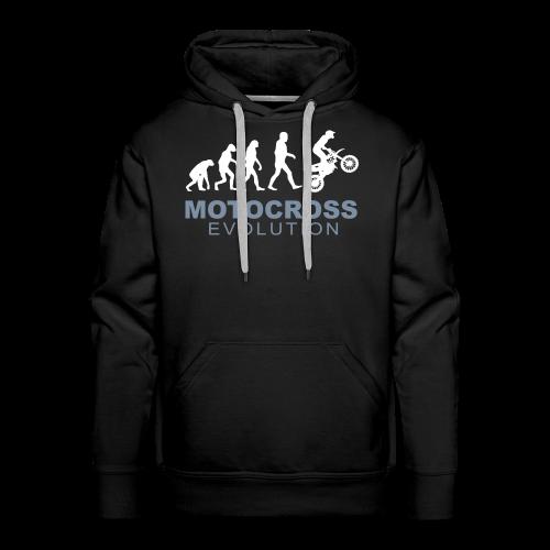 Motocross Evolution - Sweat-shirt à capuche Premium pour hommes