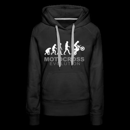 Motocross Evolution - Sweat-shirt à capuche Premium pour femmes
