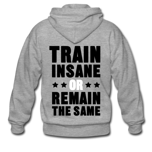 Train insane (men's jacket) - Men's Premium Hooded Jacket
