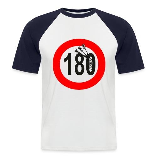 Baseball-Shirt rot 180-Verkehrszeichen - Männer Baseball-T-Shirt