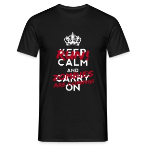 Keep with zombies - Men's T-Shirt