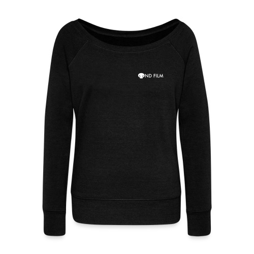 Womens boat neck logo and tentacles - Women's Boat Neck Long Sleeve Top