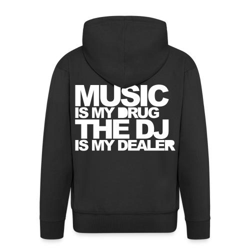 Music, my drug DW - Veste à capuche Premium Homme