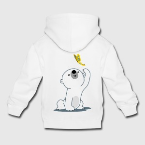 Cute Cartoon Polar Bear Cub by Cheerful Madness!! Hoodies - Kids' Premium Hoodie