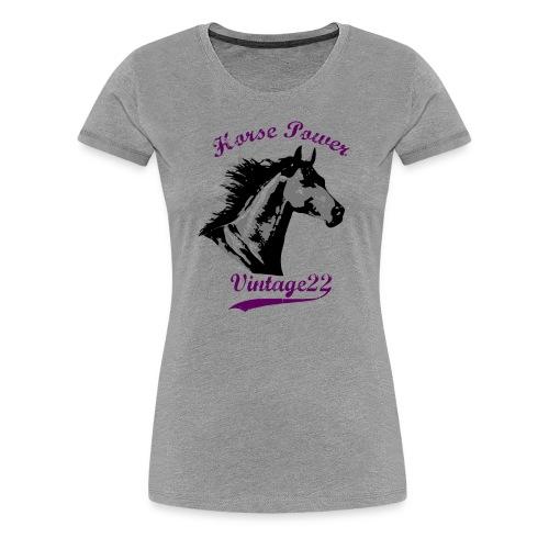 Horse Power Vintage T-Shirt - Women's Premium T-Shirt