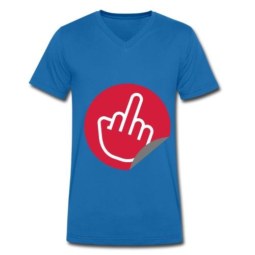 Fuck You - Mannen bio T-shirt met V-hals van Stanley & Stella