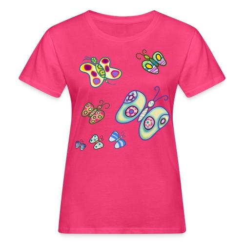 Allegria di farfalle - T-shirt ecologica da donna