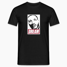 Obey x Dream MLK 2c_noir T-Shirts