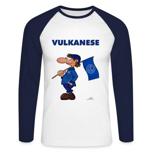 Vulkanesen Fanshirt - Männer Baseballshirt langarm