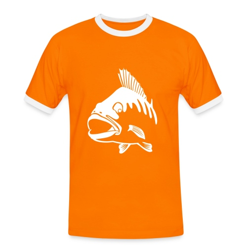 BASS white - Männer Kontrast-T-Shirt