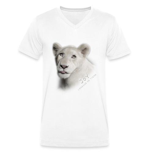 T-Shirt Homme V Joy langue - T-shirt bio col V Stanley & Stella Homme
