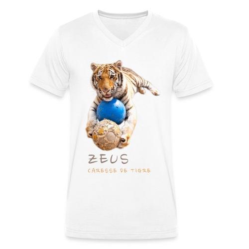 T-Shirt Homme V Zeus ballons - T-shirt bio col V Stanley & Stella Homme