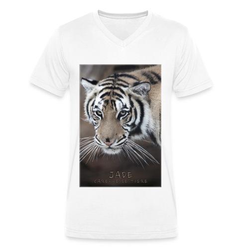 T-Shirt Homme V portrait Jade - T-shirt bio col V Stanley & Stella Homme