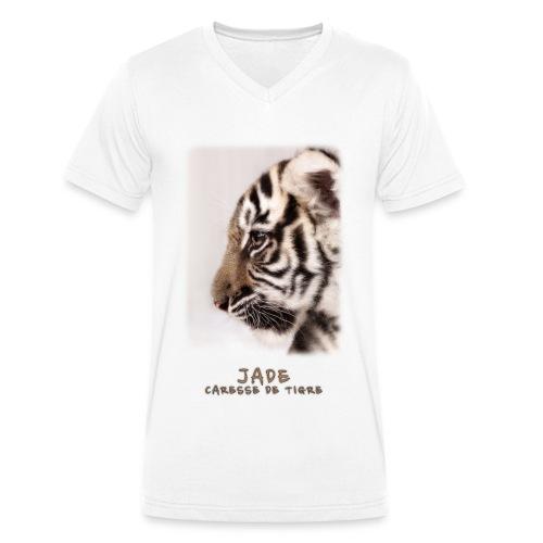 T-Shirt Homme V Jade bébé profil - T-shirt bio col V Stanley & Stella Homme