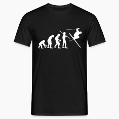 "Men's ""Evolution of Man - Skier #1"" T-Shirt"