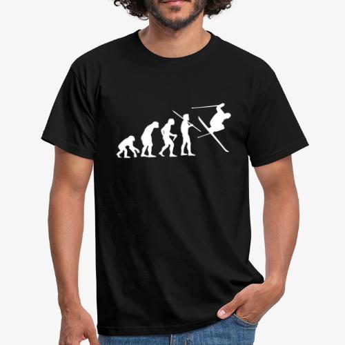 Men's Evolution of Man - Skier T-Shirt - B&C - Men's T-Shirt